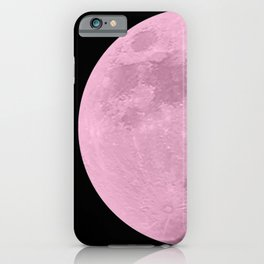 PINK MOON // BLACK SKY iPhone Case