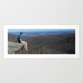 Cliffside Seat Art Print