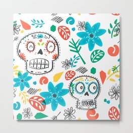 Summer sugar skulls Metal Print