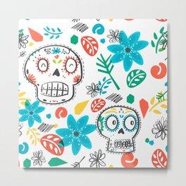 Summer sugar skulls Metal Print