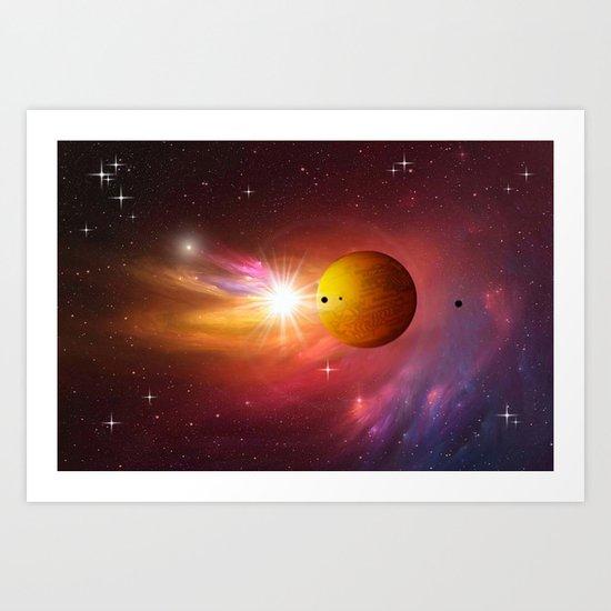 Star dust and interstellar gas. Art Print
