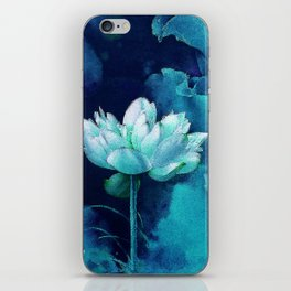 Moonlight Water Lily iPhone Skin