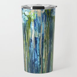 Forget me not -  Blue floral abstract Travel Mug