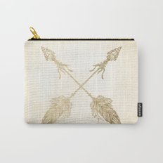 Tribal Arrows Gold on Paper Carry-All Pouch
