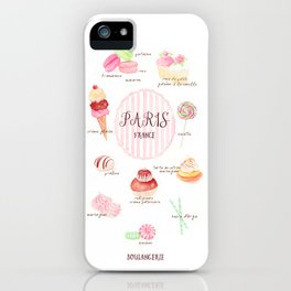 Paris Patisserie iPhone Case