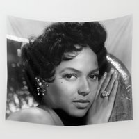 dorothy Wall Tapestries featuring Dorothy Dandridge  by I Love Decor