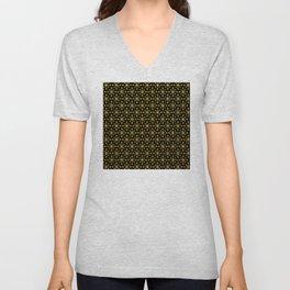 Art Deco Vintage-Retro Gold and Black Pattern Unisex V-Neck