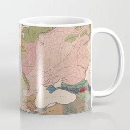 Vintage Anthropological Map of Europe (1861) Coffee Mug