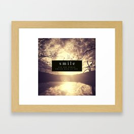 smile and the world smiles back at you Framed Art Print