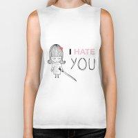 kill bill Biker Tanks featuring I Hate You / Kill Bill by Etiquette