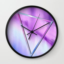 Floating Triangle (abstract art) Wall Clock