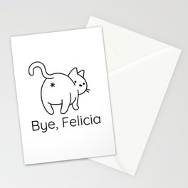 Funny Bye, Felicia Gifts for Cat Lovers Stationery Cards