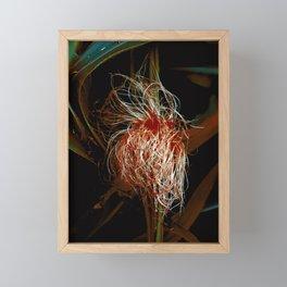 Corn Silk with Red Framed Mini Art Print