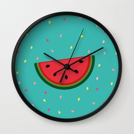 Watermelon Party ll Wall Clock