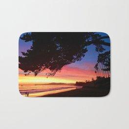 """""""A Sunset Walk"""" Butterfly Beach at the Four Seasons Resort. Bath Mat"""