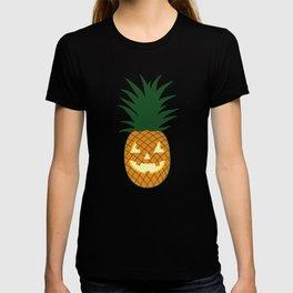 Carved Pineapple Hawaiian Halloween T-shirt