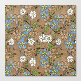 Vintage floral pattern. Canvas Print