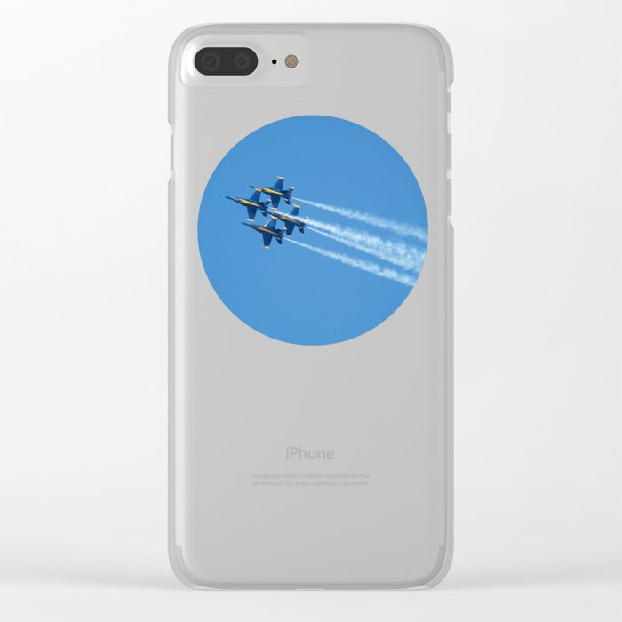 Blue Angels - 2 Clear iPhone Case