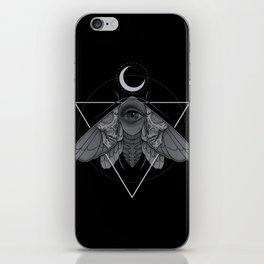 Occult Moth iPhone Skin