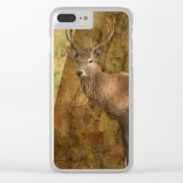 Stag Party, Autumn Shade Clear iPhone Case