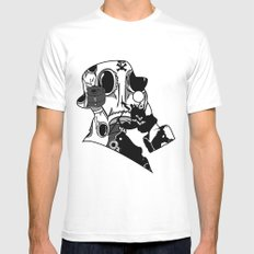 My Dexterous Shadow  B&W 1 of 4 MEDIUM Mens Fitted Tee White