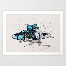 Blue Chucks Art Print