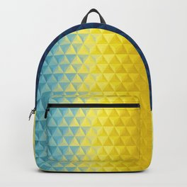Geometric - from blue to yellow triangles Backpack