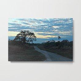 Sunrise Sky Travel African Road Landscape Metal Print