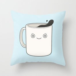 whoa, coffee! Throw Pillow