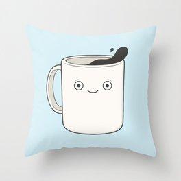 whoa, coffee! Throw Pillow