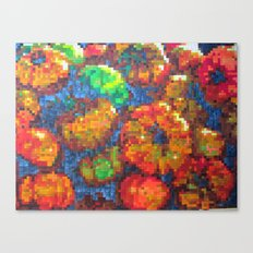 Tomatoes on pixel Canvas Print