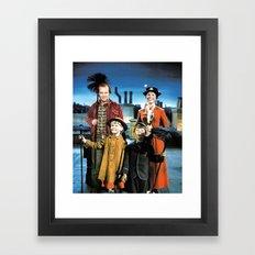 Jack Torrance in Mary Poppins Framed Art Print