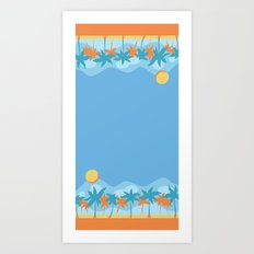beach fun times Art Print