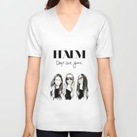 haim V-neck T-shirts featuring Haim Days are gone by Mariam Tronchoni