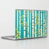 birch Laptop & iPad Skins featuring Birch wood by Rceeh