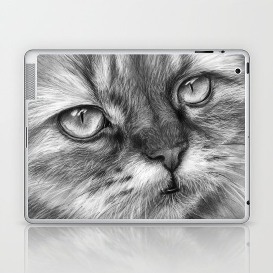 Cat Drawing Laptop & iPad Skin