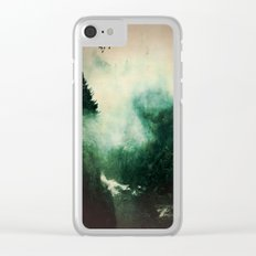 Morning dust on Mountains - Forest Wood Tree Clear iPhone Case