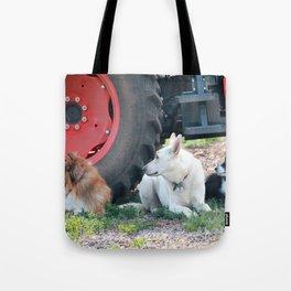 Farm Dogs Tote Bag