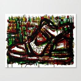 Green High Thick Kick Canvas Print