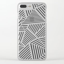 Ab Linear Zoom Black Clear iPhone Case