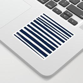 Nautical Ocean Stripes, Navy and White Sticker