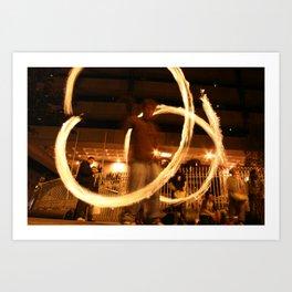 Fire Dancer Dame St Dublin Art Print