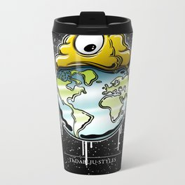 shit rules the world Metal Travel Mug