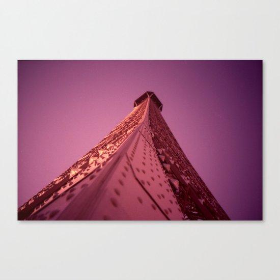 Purple Eiffel  Canvas Print