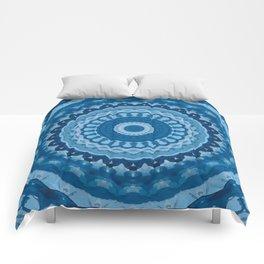 blue mandala 1 Comforters