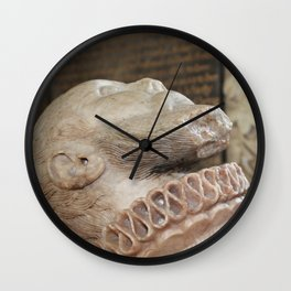 Carved Alabaster Head of Thomas Wentworth  Wall Clock