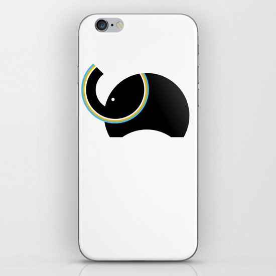Retro Elephant iPhone & iPod Skin