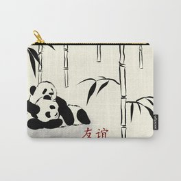 Panda Cubs in Bamboo Forest Carry-All Pouch