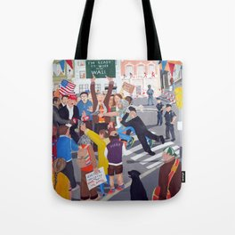 The colourful Assassination of Donald Trump in New York City Tote Bag