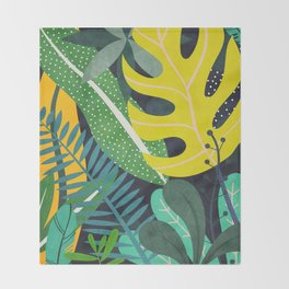 Tropical Flora II Throw Blanket